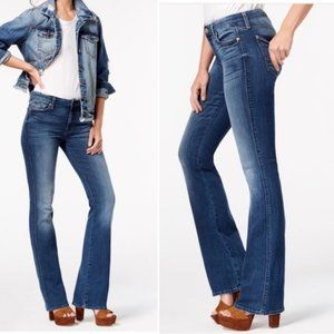 7 For All Mankind Bootcut Rhinestone Pocket Jeans